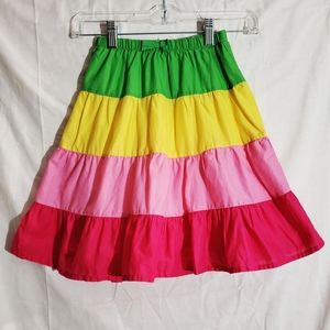 Girls Gymboree Multi Color Festive Tiered Skirt 4